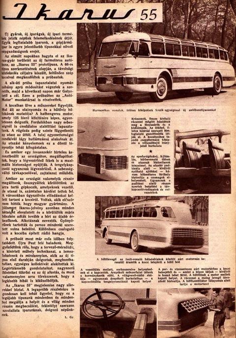 Статья о новом автобусе в венгерском журнале
