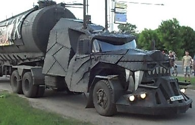 Image result for wolf in a mad max car