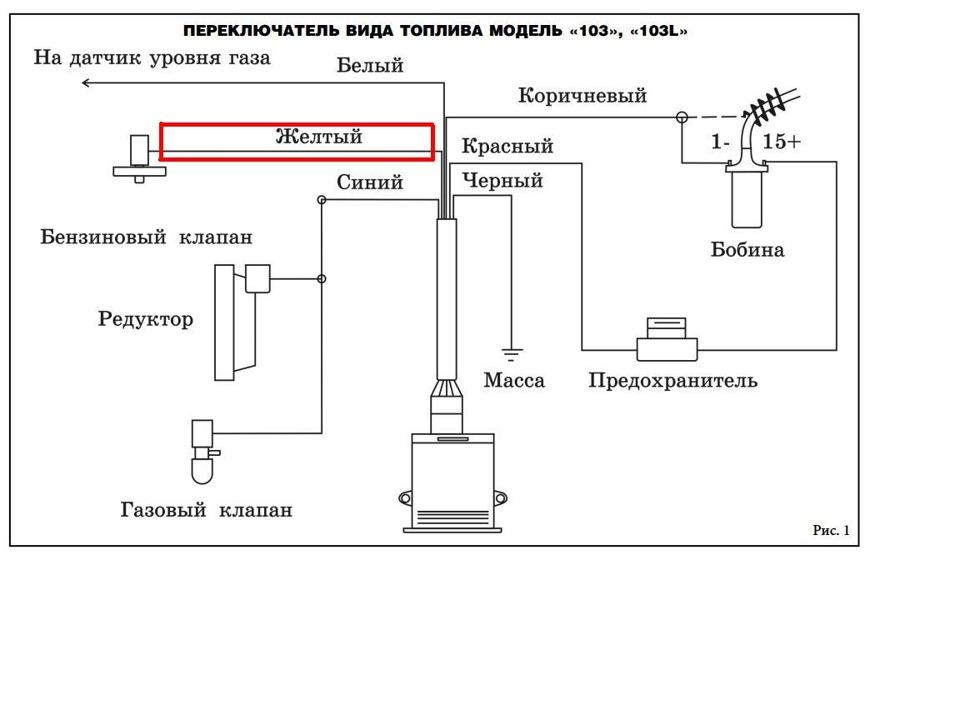Схема подключения реле газового оборудования