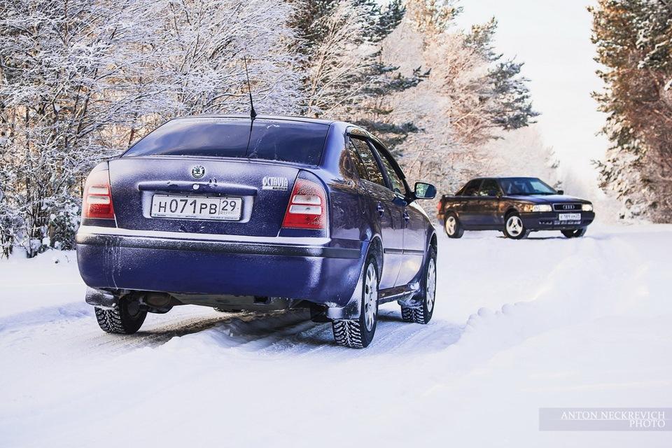 Зимний фотосет с машиной
