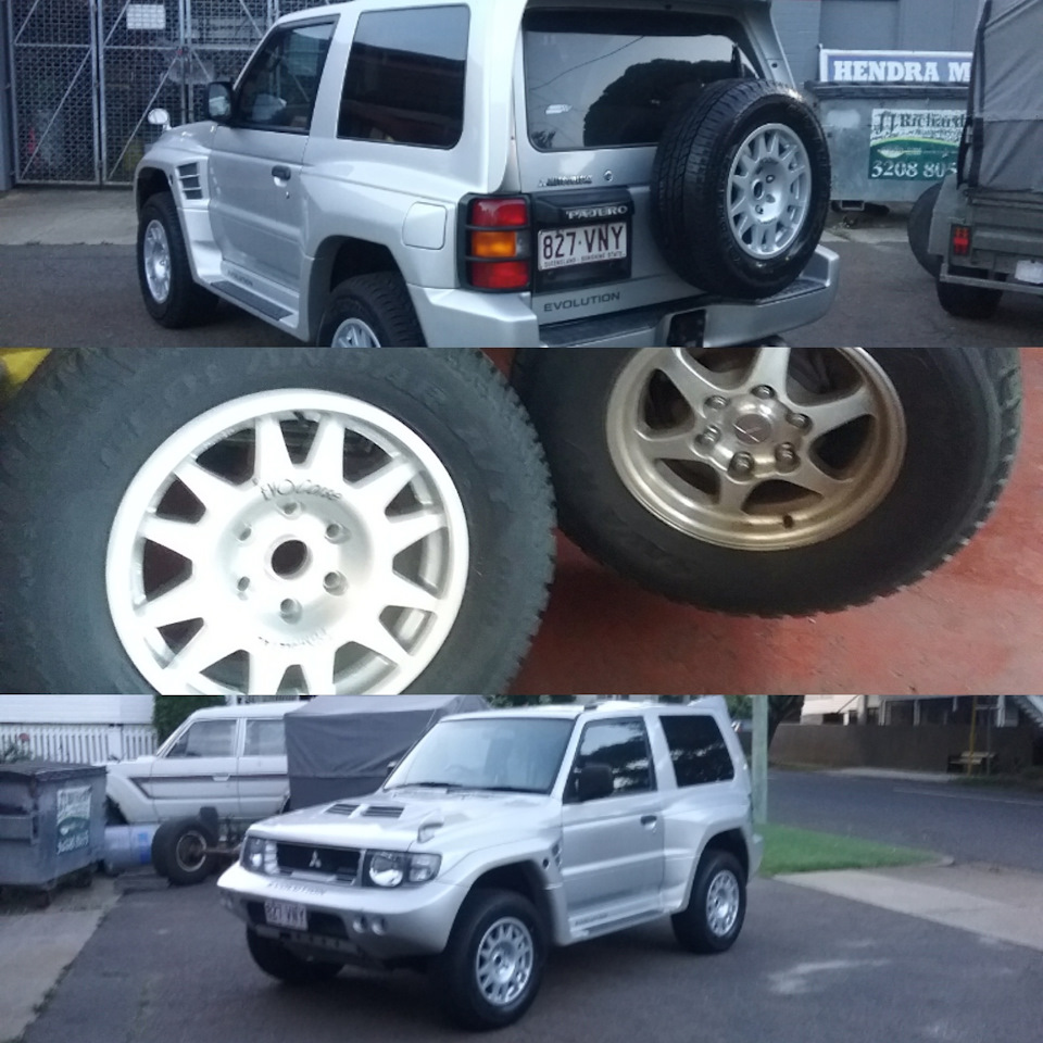 Wheels And More >> New Wheels And Tyres Logbook Mitsubishi Pajero
