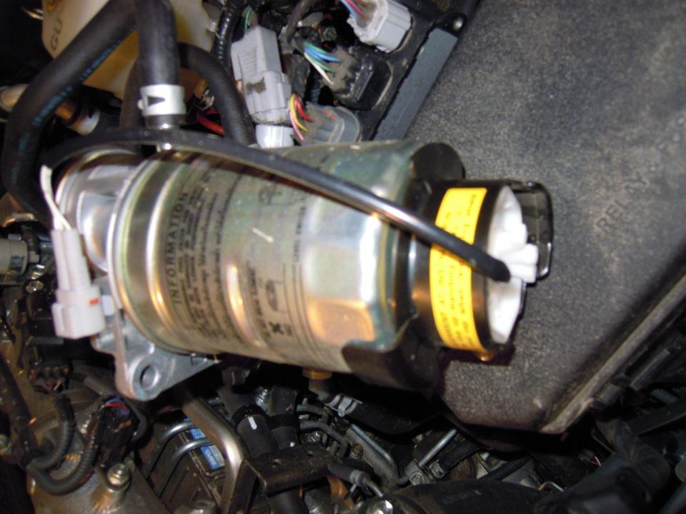 Замена топливного фильтра прадо 120 2 7