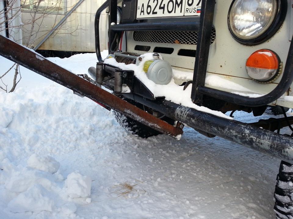 нож для чистки снега на уаз своими руками