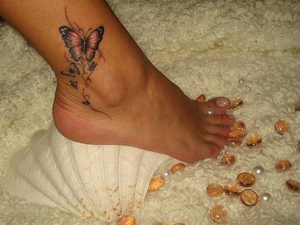 Женские татуировки на ноге тату для девушек