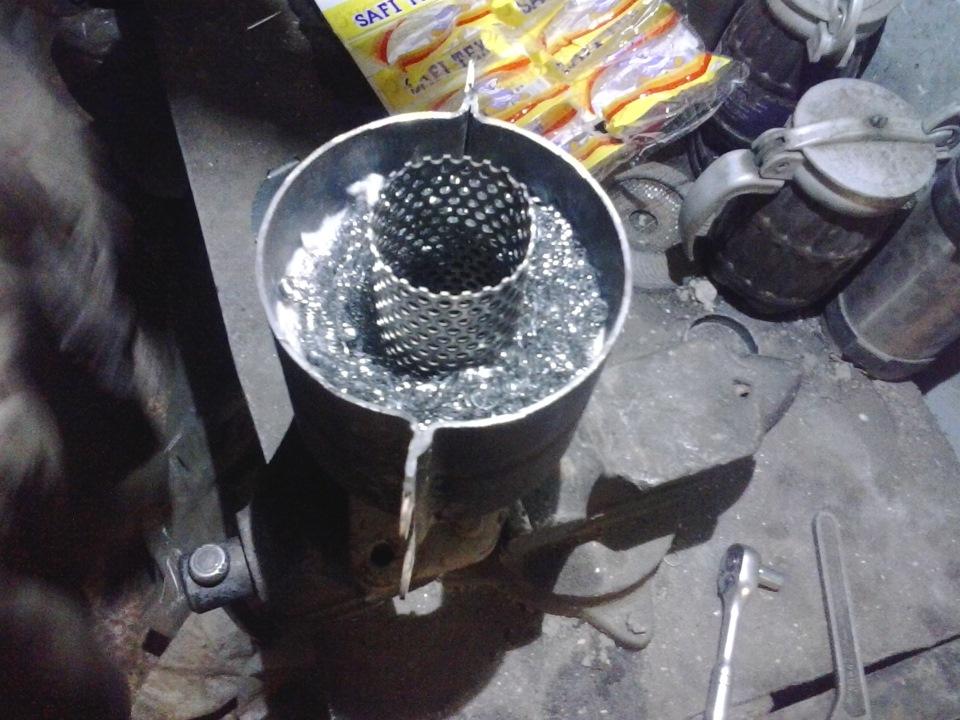 Как сделать пламегаситель из катализатора своими