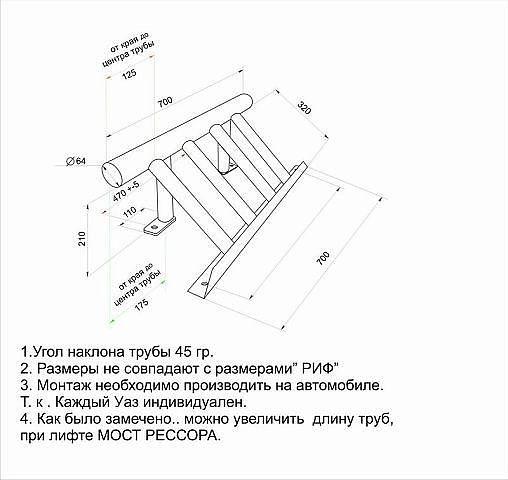 Чертежи защита рулевых тяг на уаз 469 своими руками чертежи 60