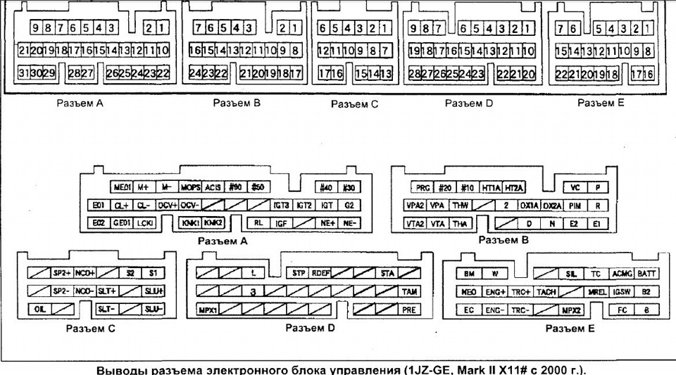 Электрическая схема 1jz