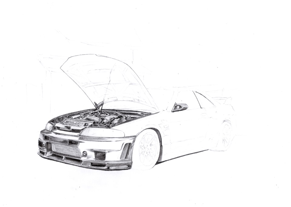 nissan r33 gtr coloring pages - photo#24