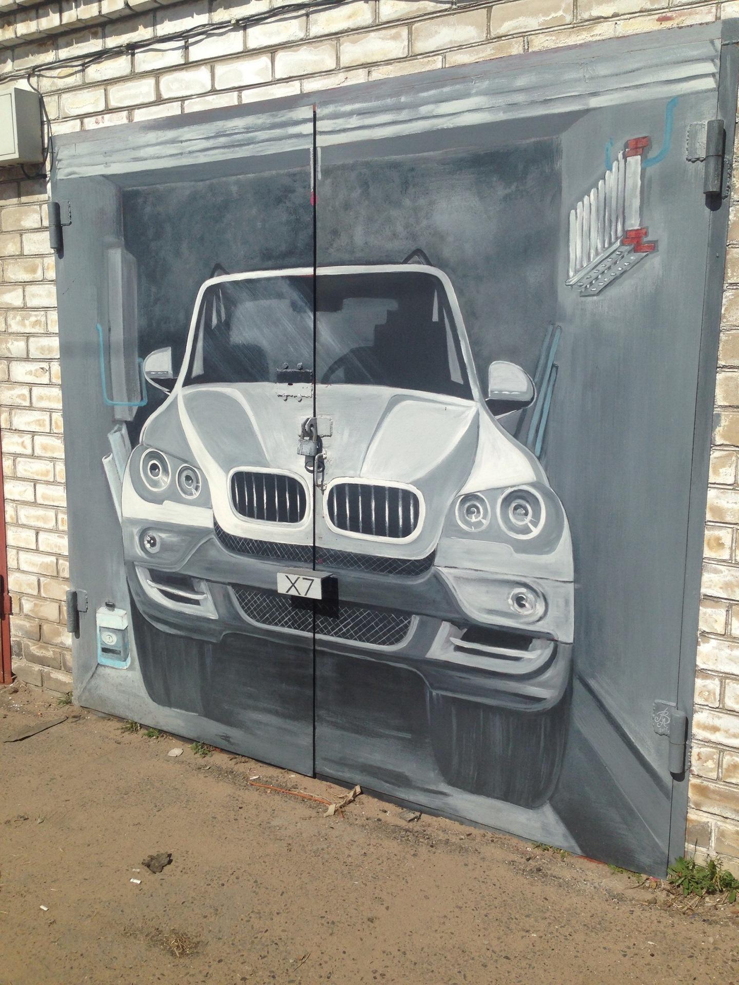 Рисунок на гараже фото