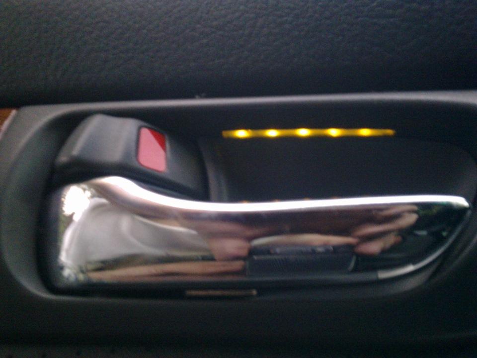 Подсветка ручки своими руками двери