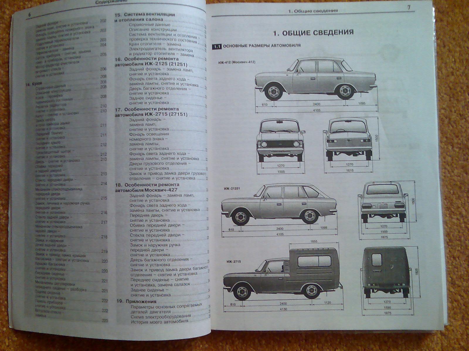 схема автомобиля москвич комби