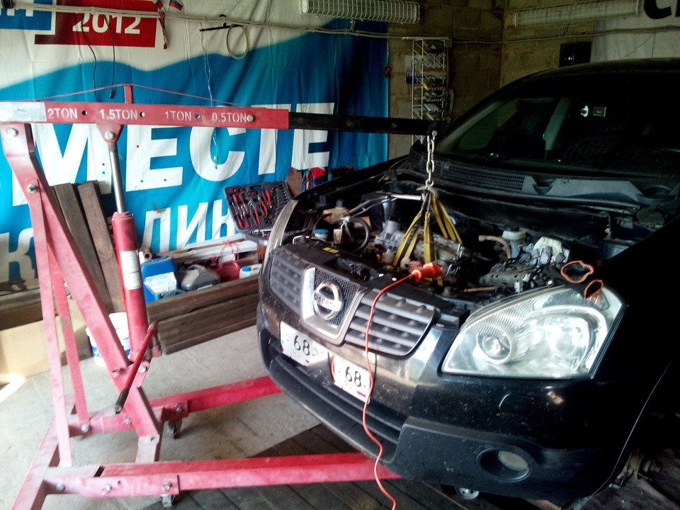 Как вытащить двигатель
