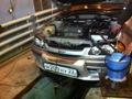 Замена масла и фильтра в акпп toyota caldina 2003г 1az-fse кузов azt246w