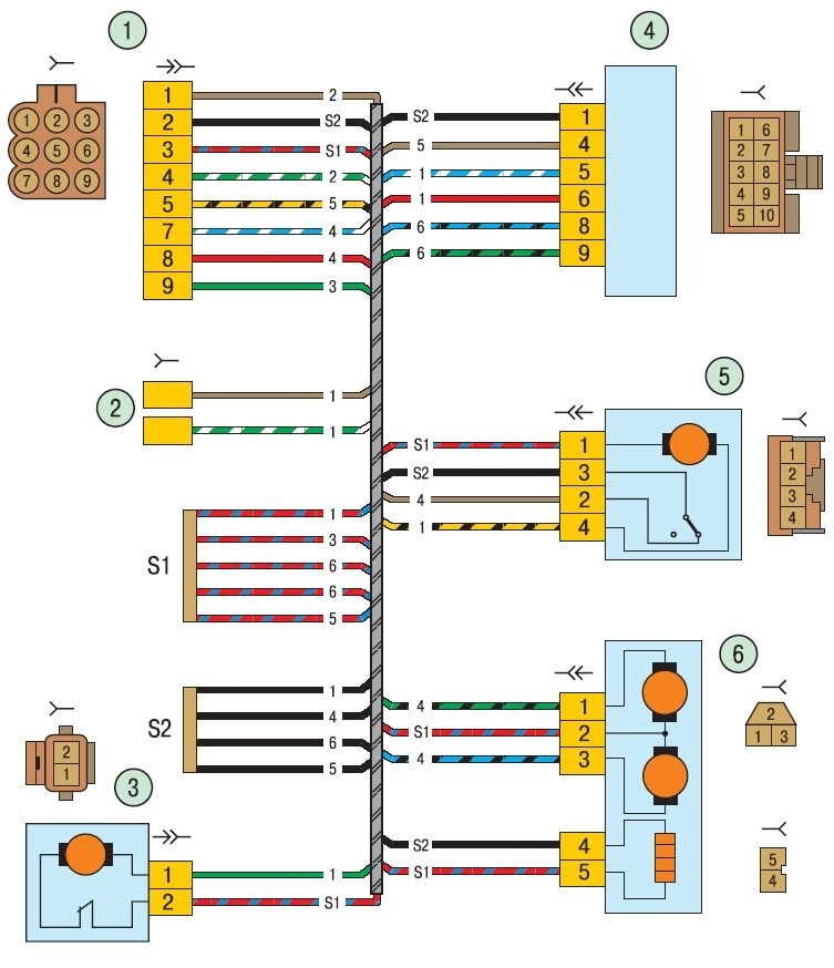 схема жгута левой двери…