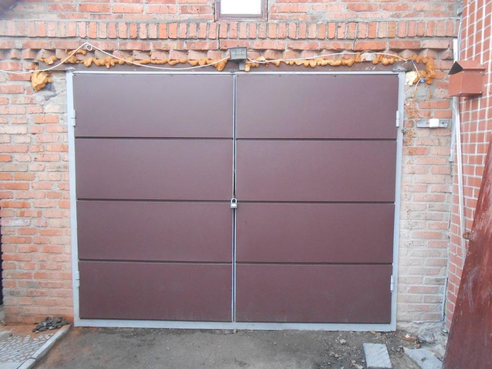 Ворота гаражные сделай сам своими руками