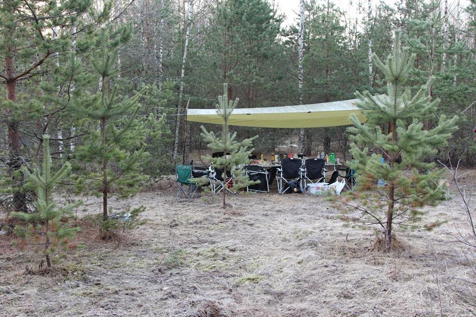 Лагерь №1 под Валдаем в прекрасном хвойном бору.