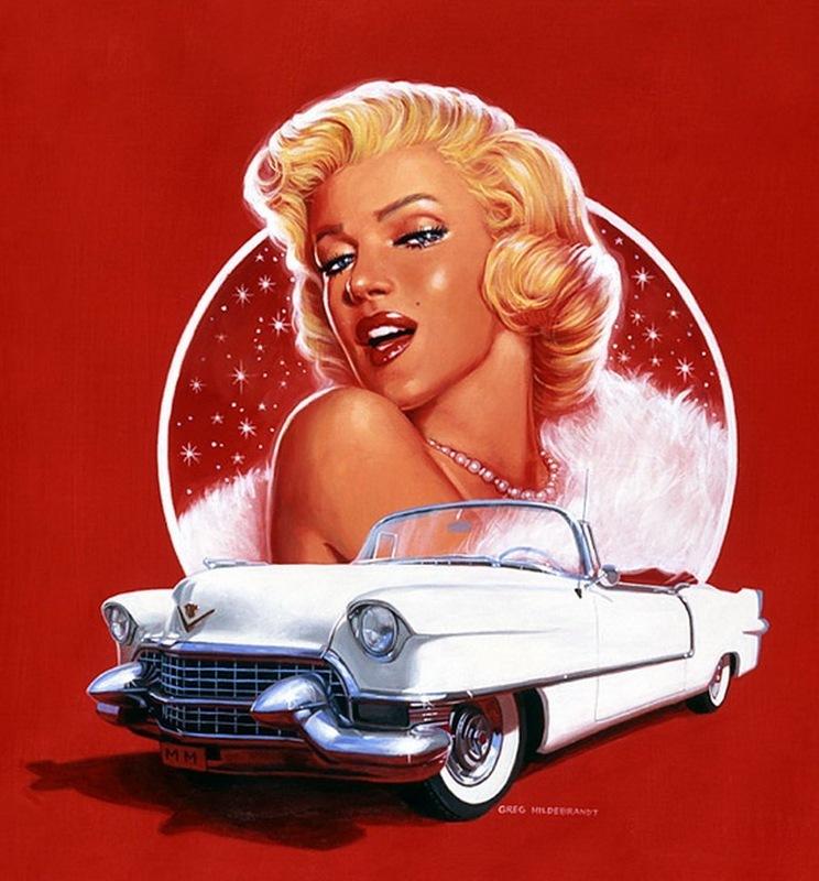 Девушка на машине открытка, открыткой