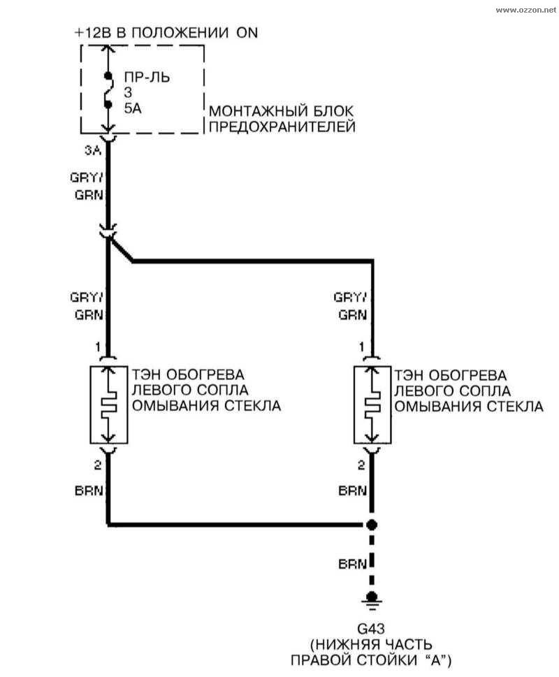 Схема электрообогрева А4 В6
