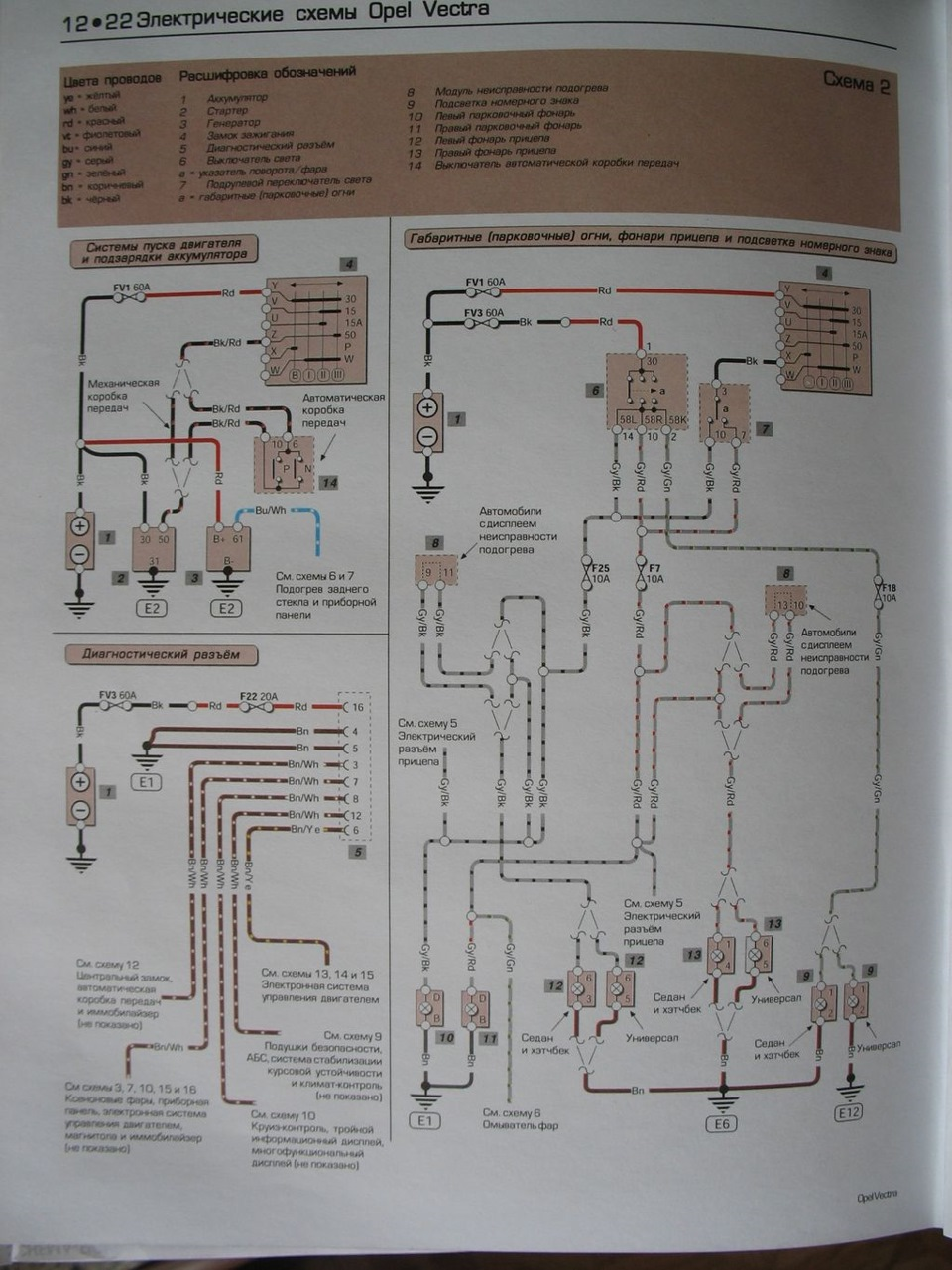 Схема реле опель вектра а