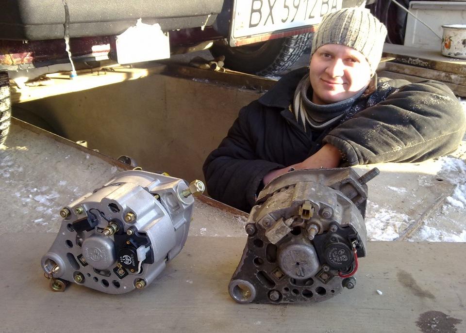 Старый и новый генератор,