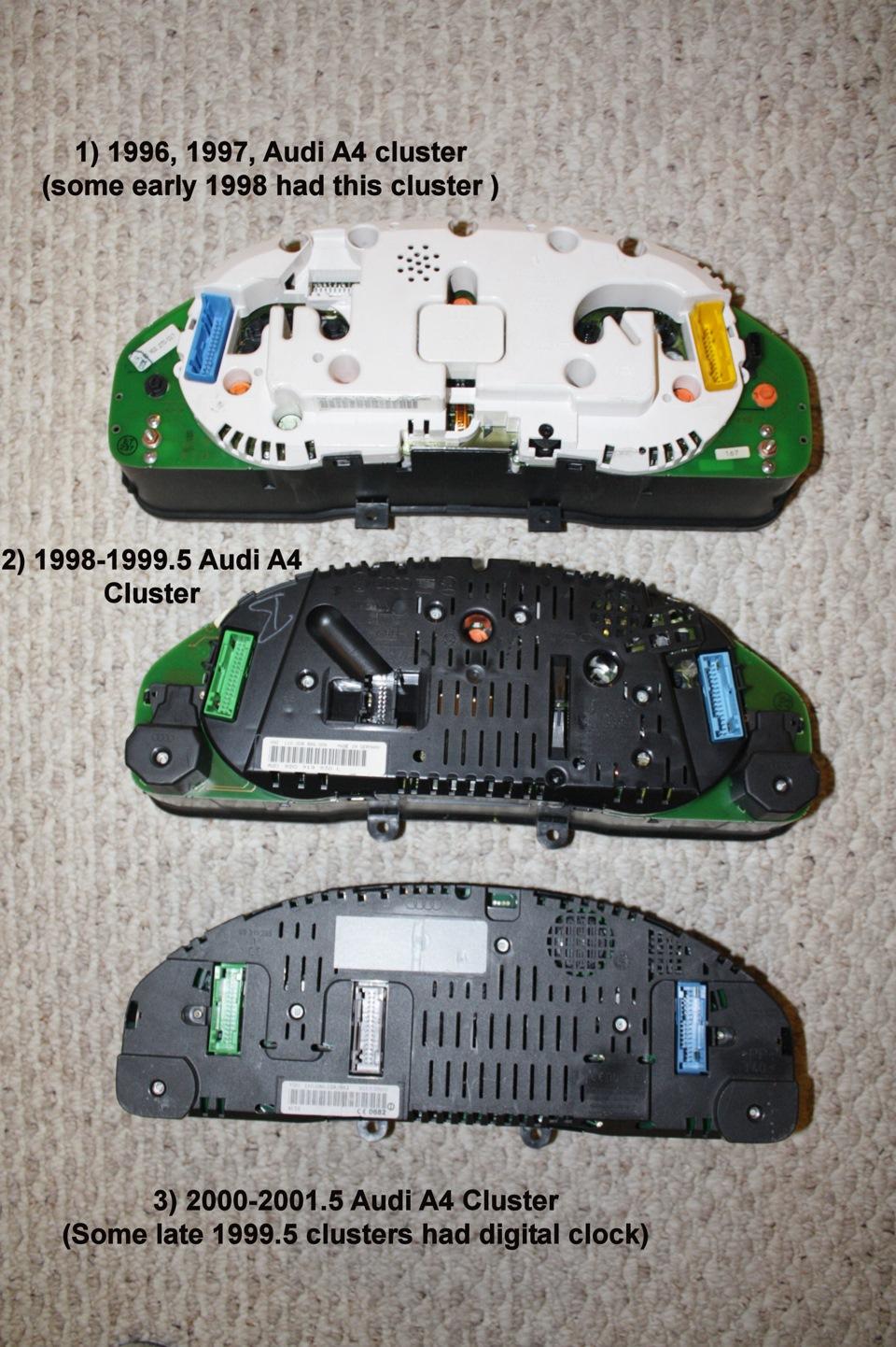 <b>Установка приборной панели</b> VDO с БК Audi A4 B5 ...