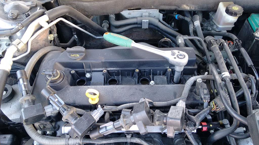 Замена свечей зажигания mazda 6 Диагностика форсунок двигателя б3 универсал