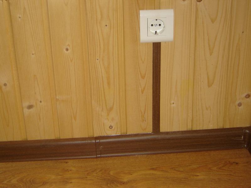 Проводка в плинтусах в доме своими руками