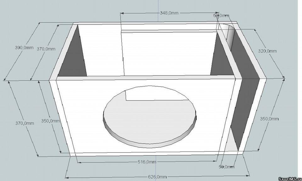 Короб для сабвуфера своими руками: чертежи, схемы, фото и 37