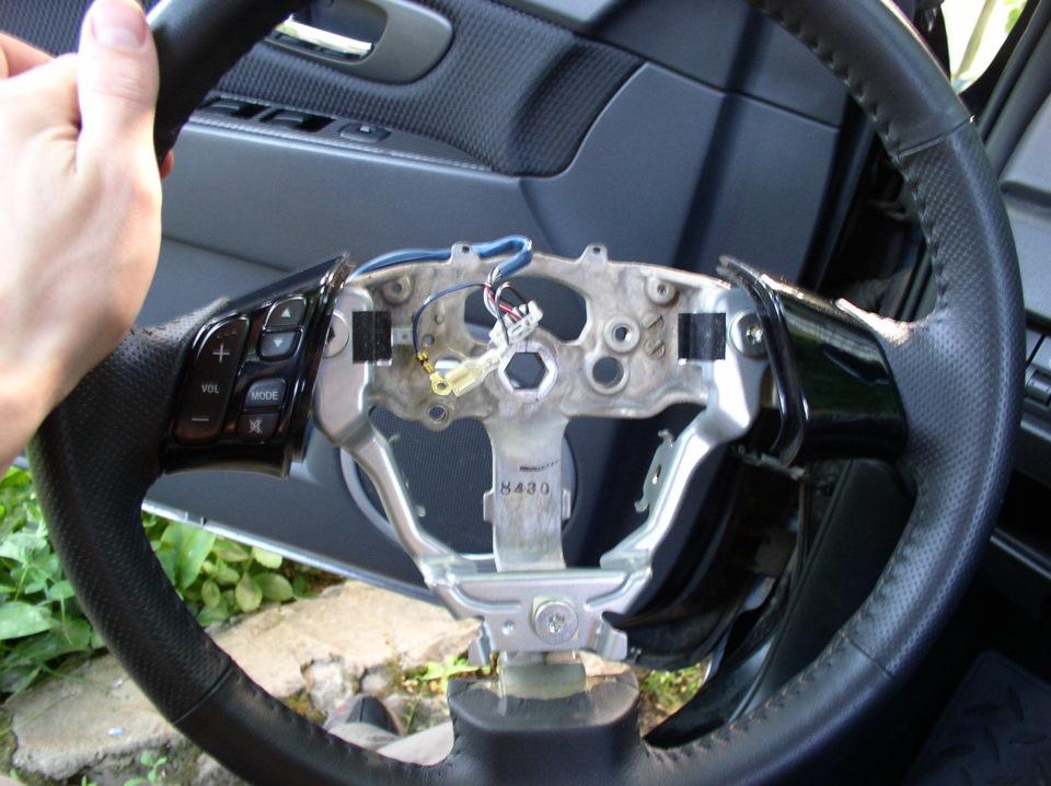 Как снять руль на мазде