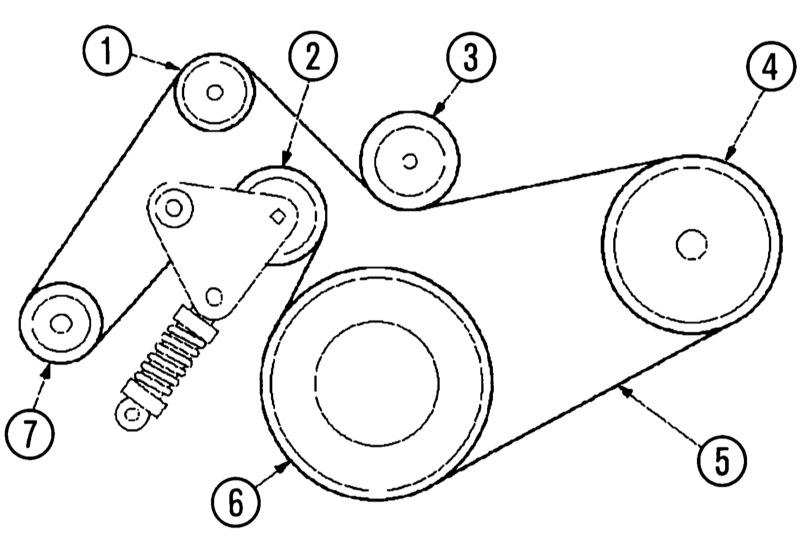 ролик натяжителя приводного ремня форд мондео 4 замена
