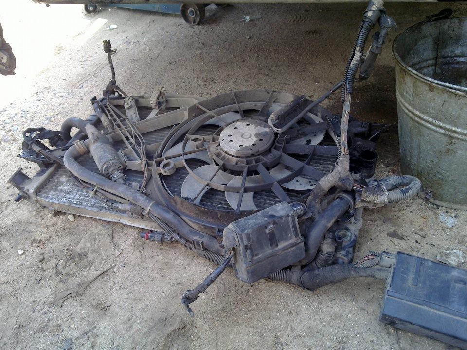 Радиатор. Вид от двигателя.