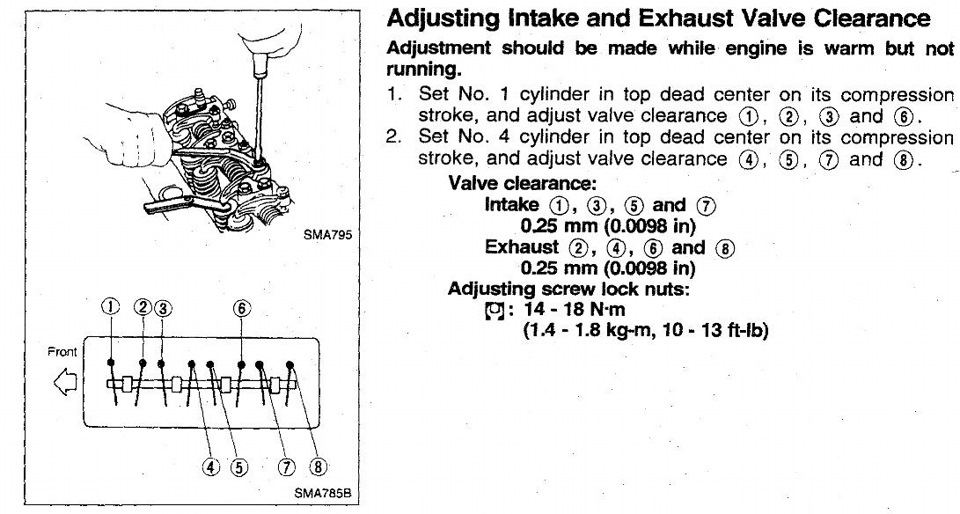 как отрегулировать клапана на nissan
