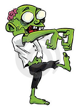 Zombie eating brains clipart