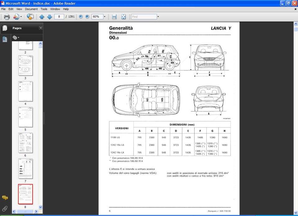 lancia y service manual 1997 service book operation manual y840 rh drive2 com lancia ypsilon service and repair manual Lancia Y 2017