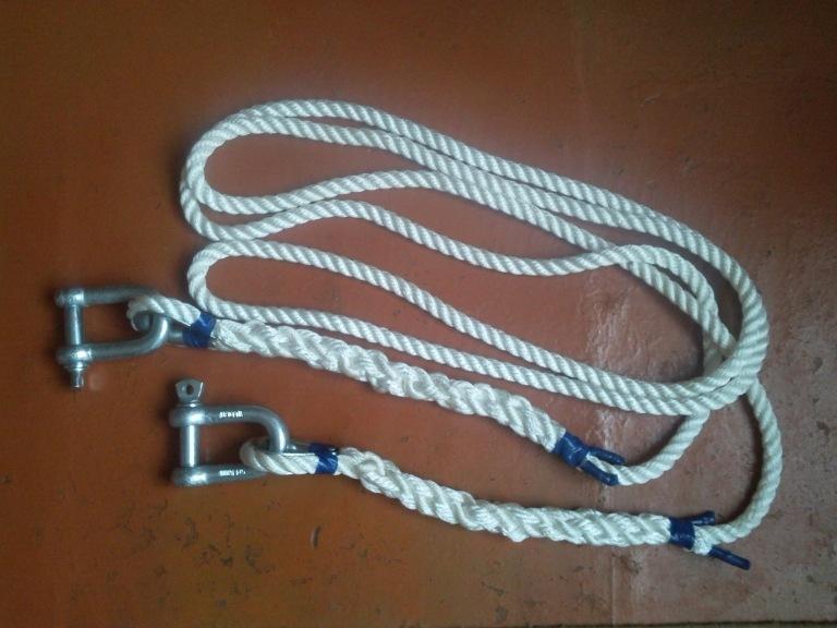 Буксировочный трос из веревки своими руками 5