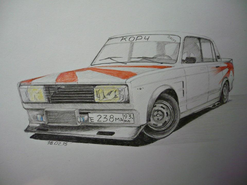 Рисованные автоваз