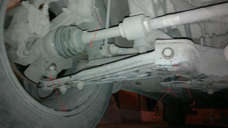 Замена сайлентблоков переднего рычага (фотоотчёт) - Клуб VW Sharan