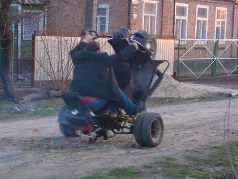 Квадроцикл из мотороллера муравей