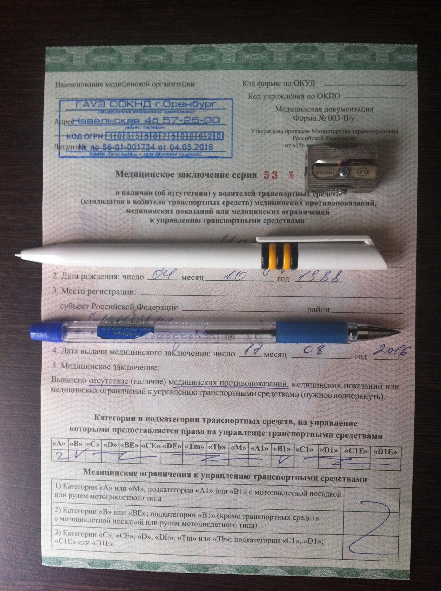 Медицинская справка для гаи оренбург определить национальность человека по анализу крови