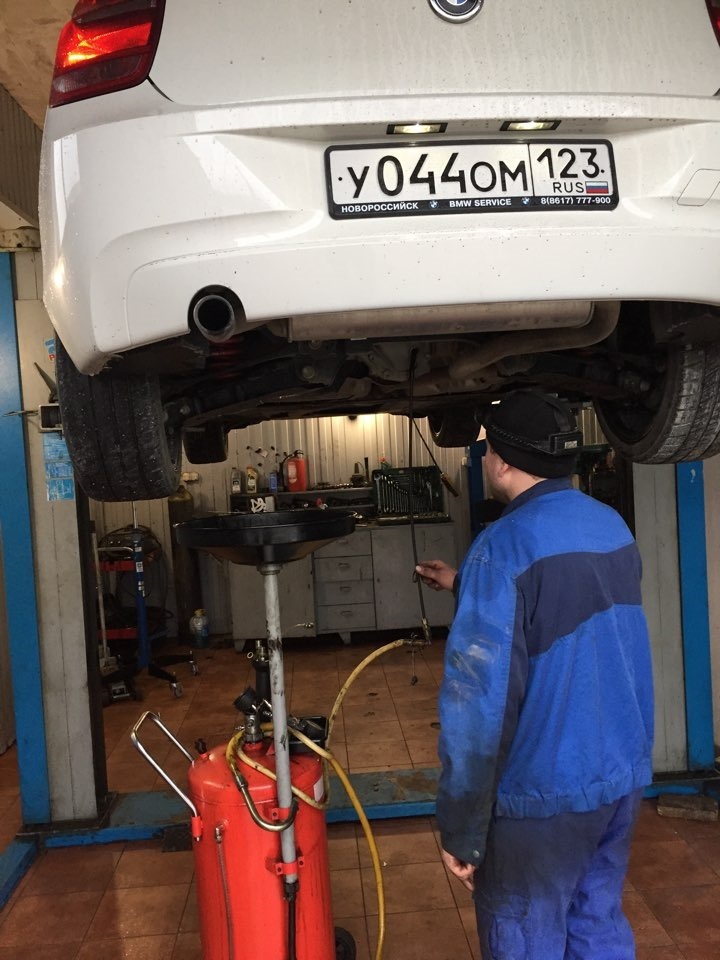 BMW e38 замена масла в редукторе