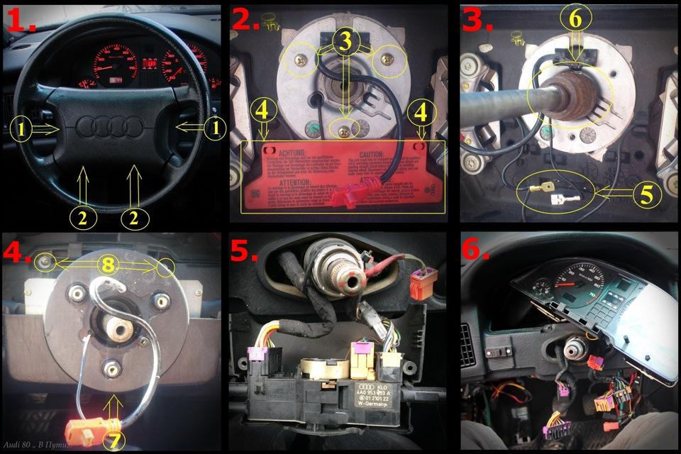 инструкция по снятию торпеды в audi 80 b3