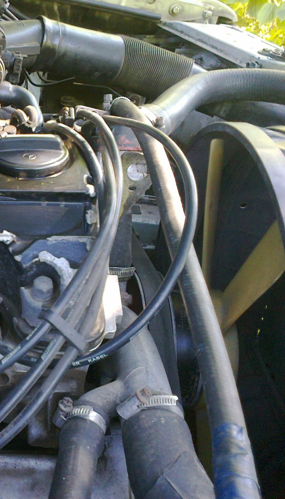 как снять вентилятор охлаждения со 102-го мотора мерседес