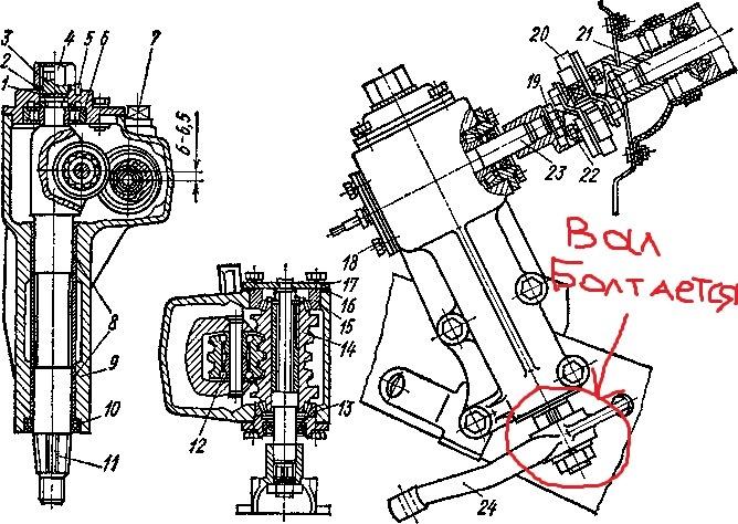 Ремонт рулевой колонки газ 24