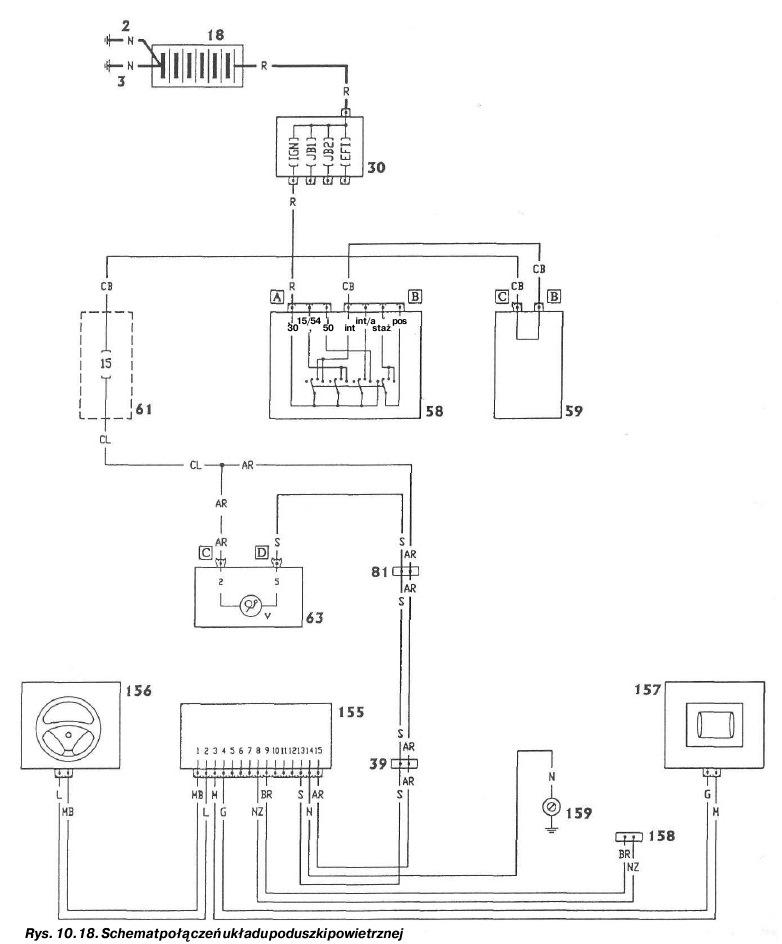 Схема подключения airbag в