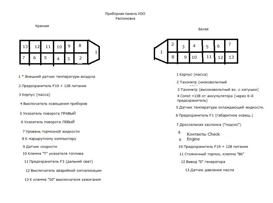 2110 схема приборной панели фото 416