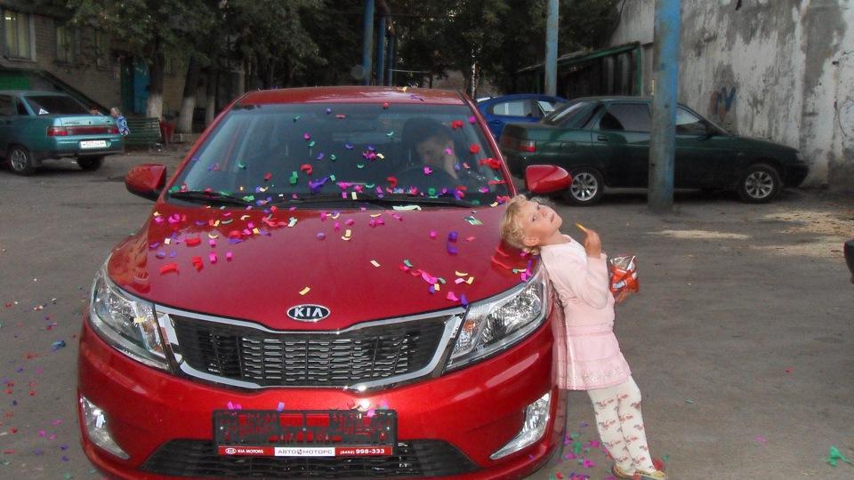машина киа рио красная фото
