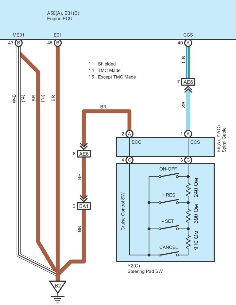 схема круиз контроля toyota