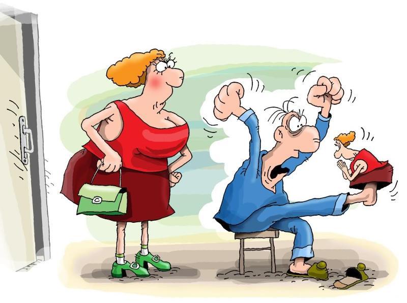 Прикольные, смешные картинки про мужа и жену в старости