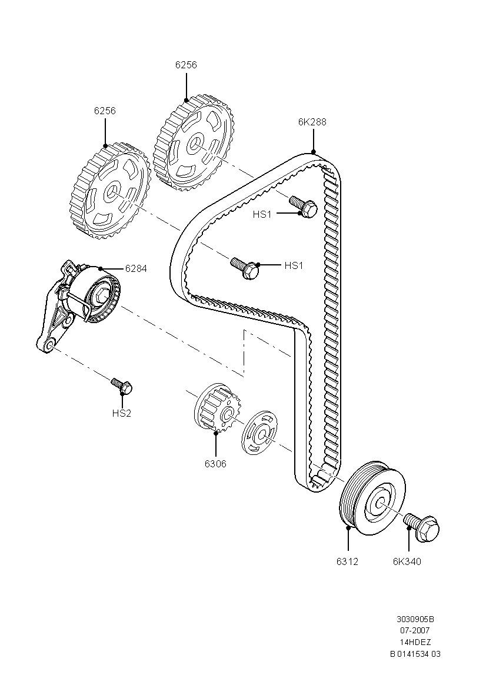 схема установки приводного ремня форд фокус 1