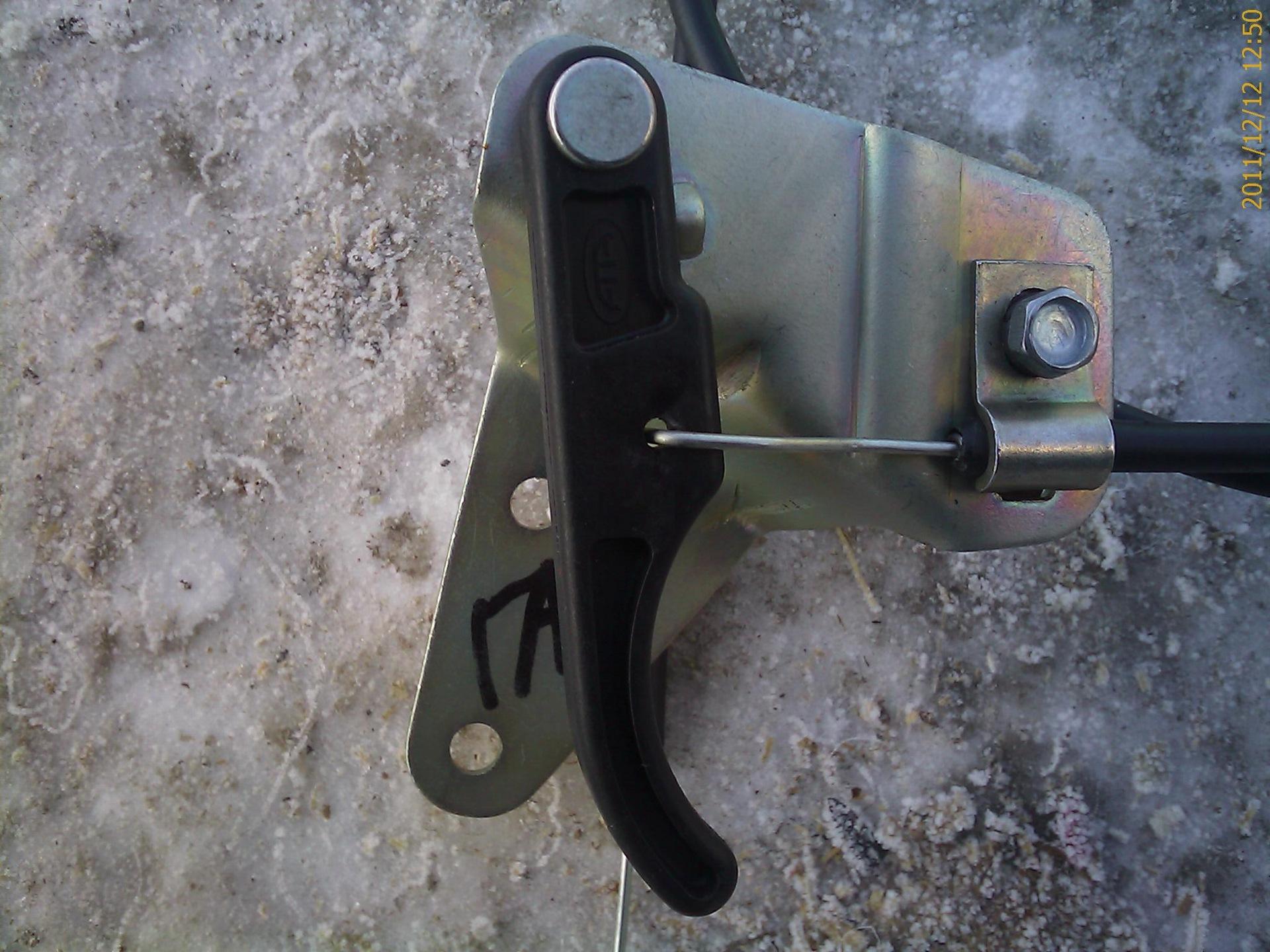 установка ручки открывания капота газ 3110 для повседневной